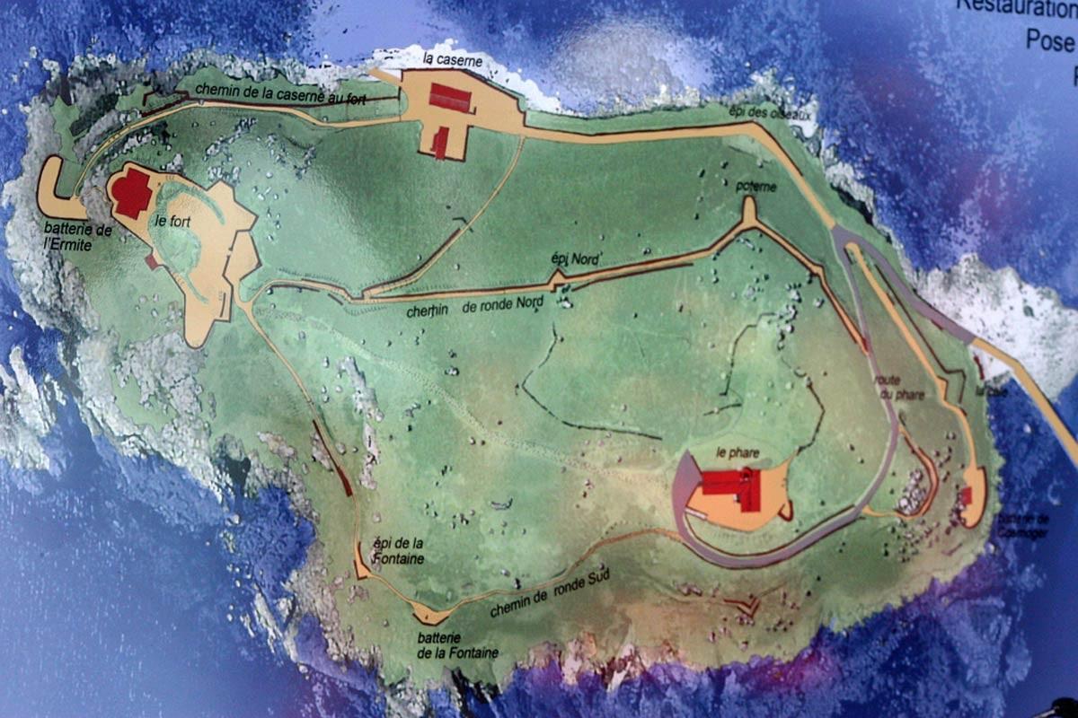 Plan de l'Île aux Moines