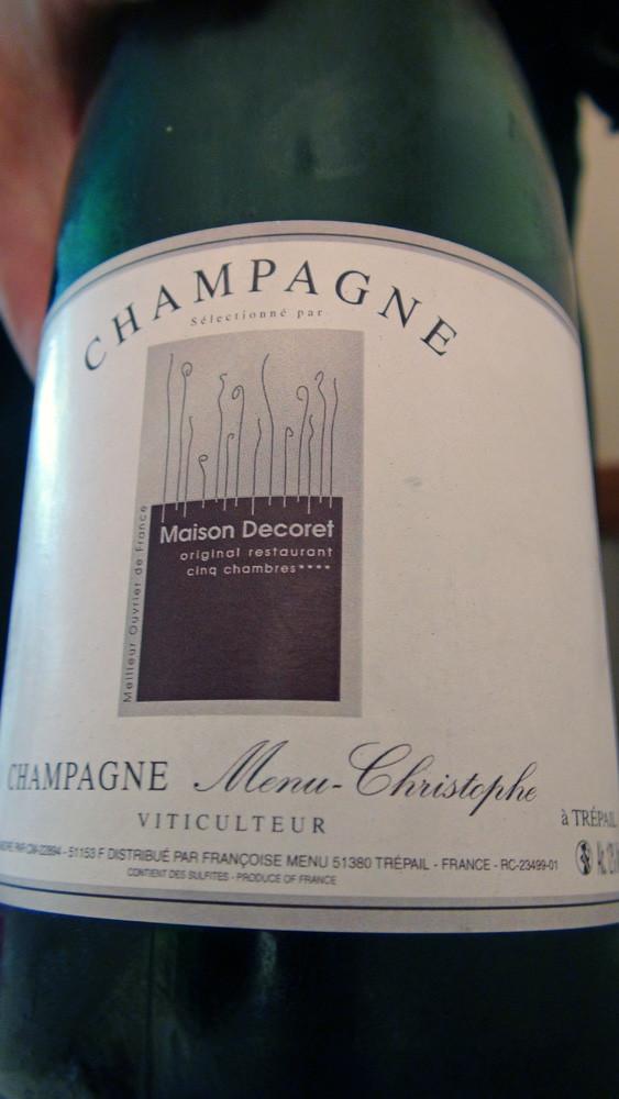 Champagne brut maison de Christophe Menu à Trépail