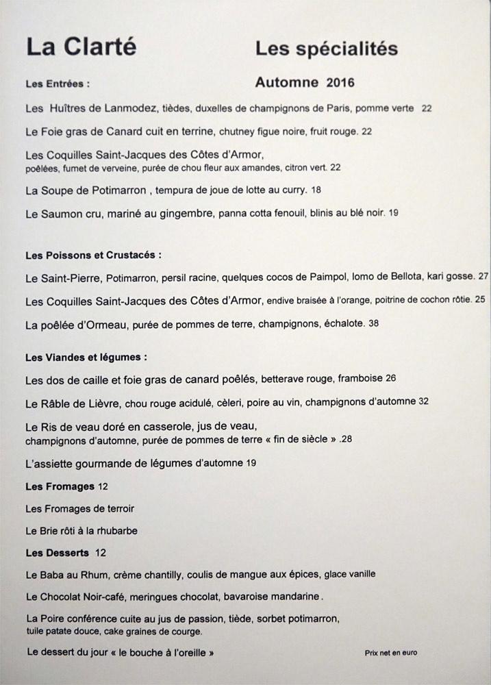 Les spécialités de La Clarté