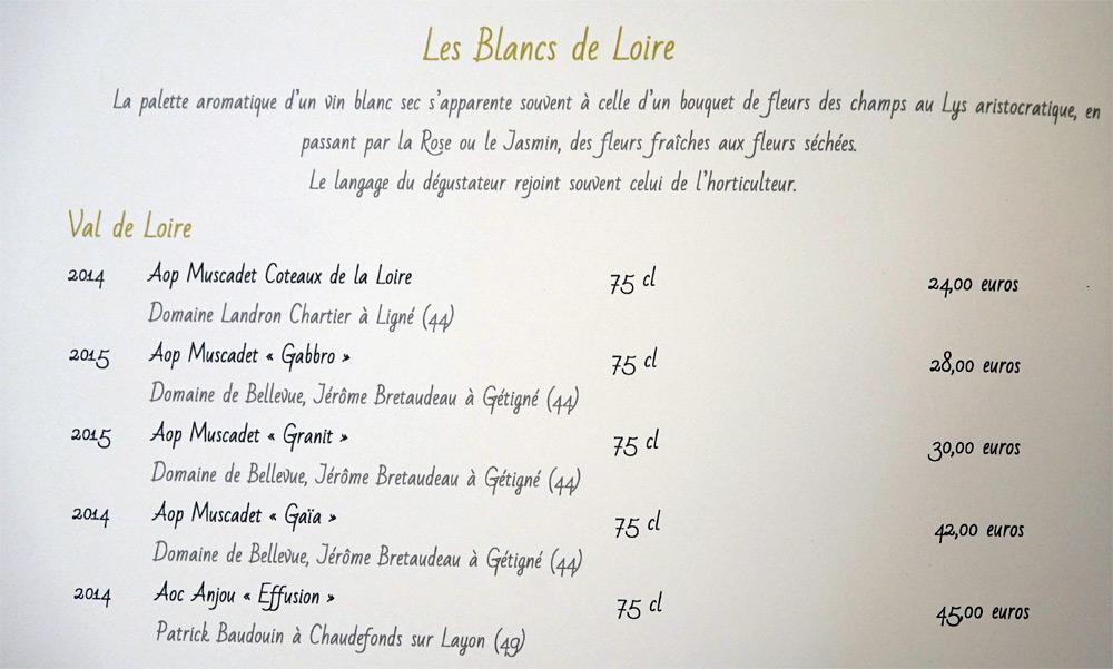 Vins blancs du Val de Loire
