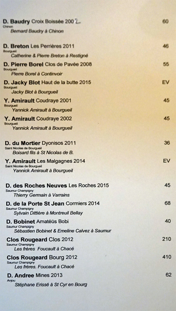 Vins rouges de Loire, suite