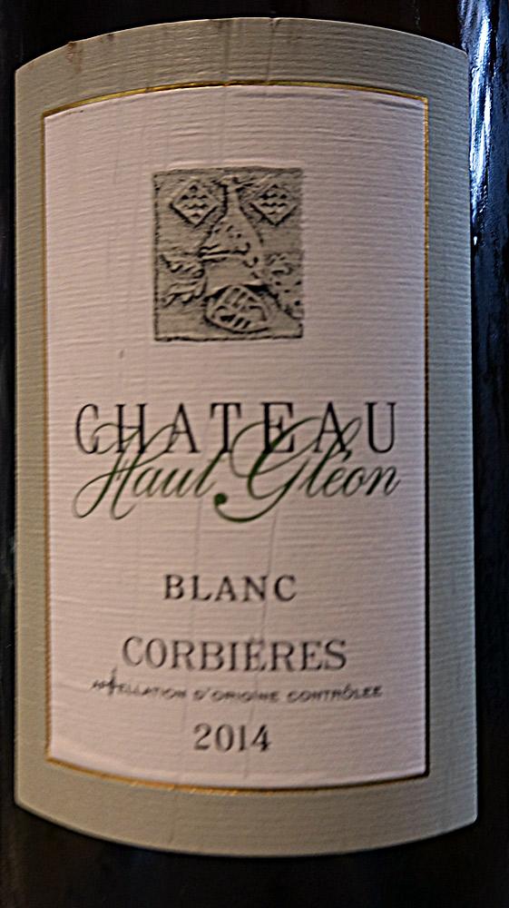 Corbières blanc 2014 (roussanne & grenache blanc) château Haut-Gléon