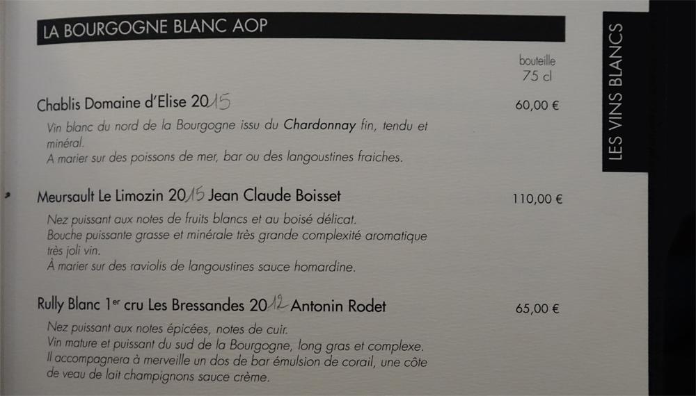 Vins blancs -Bourgogne