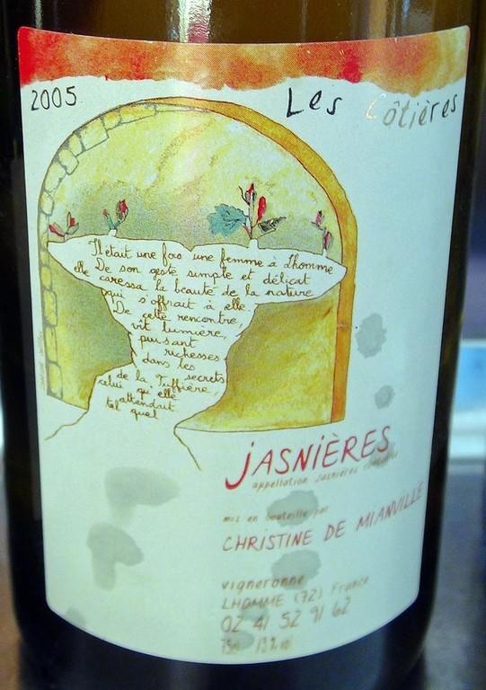 Les Côtières 2005 - AOC Jasnières