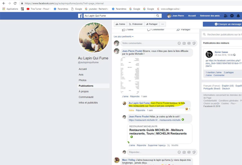 Page Facebook du Lapin qui Fume