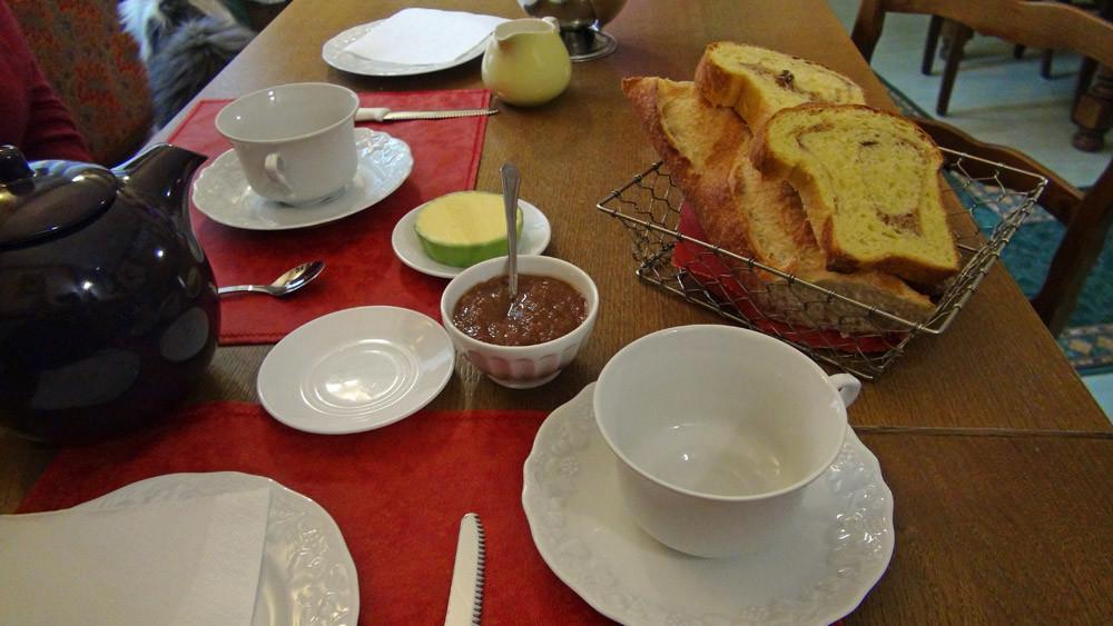 Lqe petit déjeuner ... un peu juste pour un gros mangeur