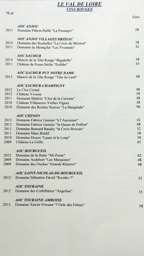 Les vins rouges du Val de Loire