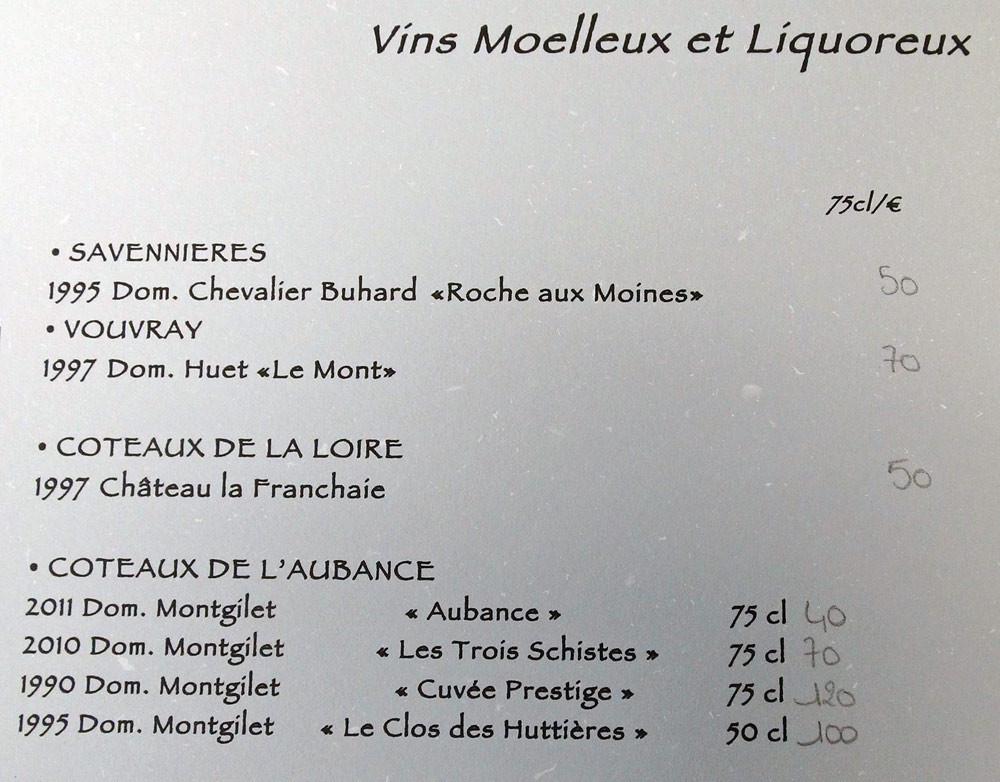 Vins moelleux & liquoreux