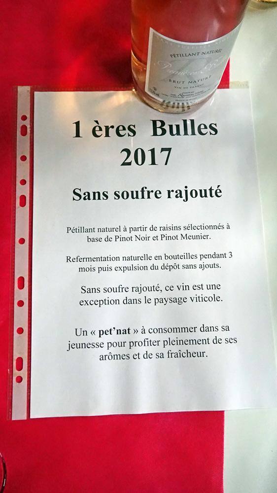 1ères Bulles, Pet Nat sans soufre ... ajouté