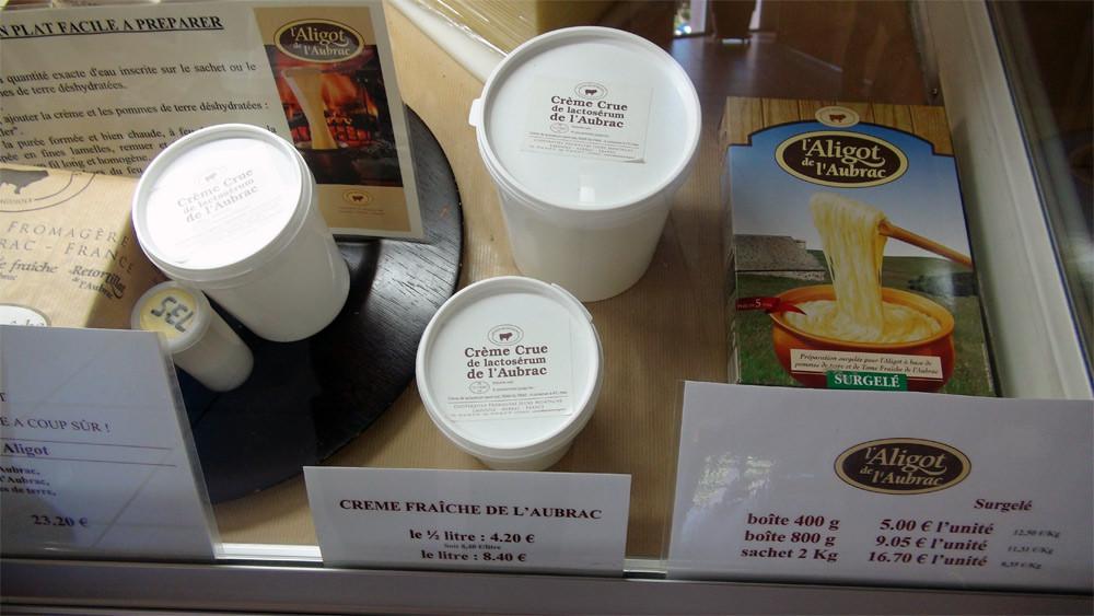 Crème fraiche crue ... de lactosérum et Aligot ... surgelé