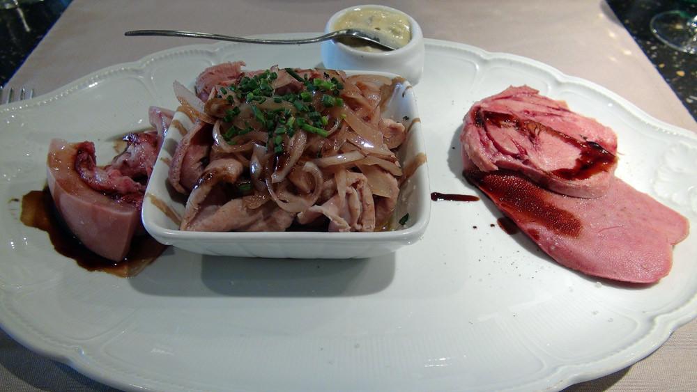 Assiette des Petits Ventres, sauce gribiche & parmentière à l'ancienne