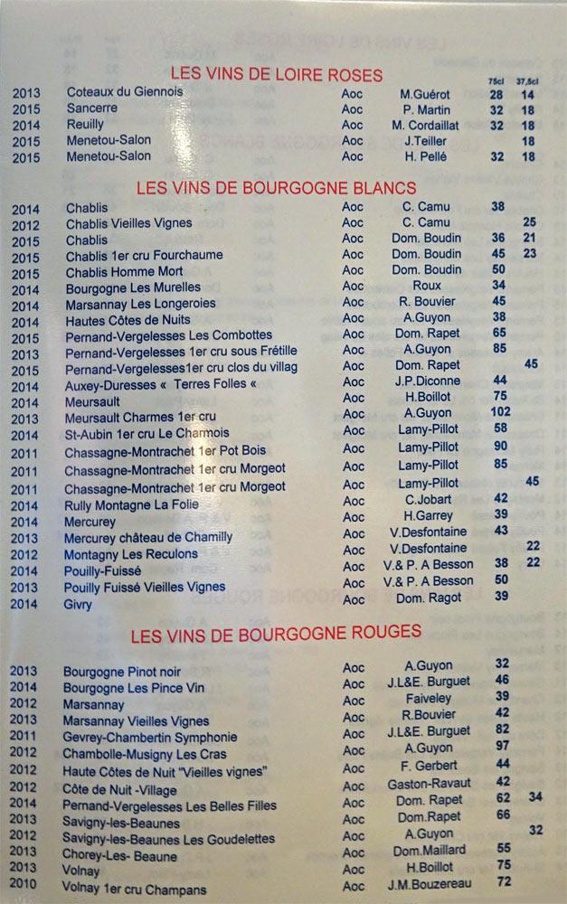 Les vins de Loire rosés, les vins de Bourgognes blancs & rouges