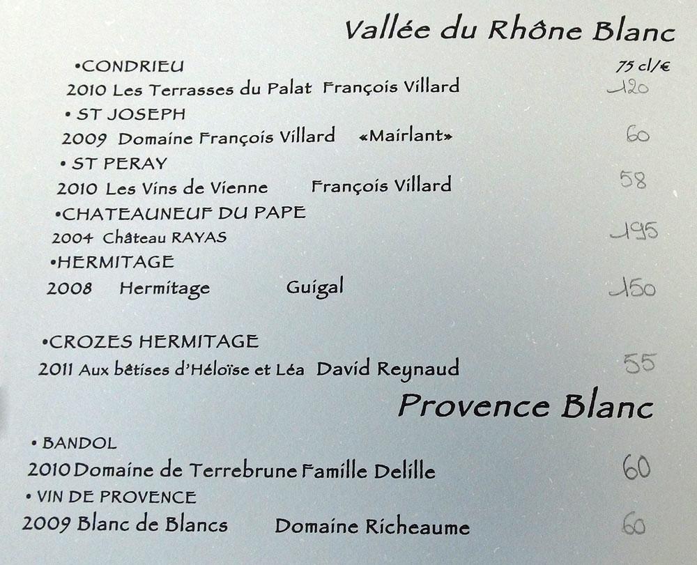 Vins de la Vallée du Rhône et de Provence blancs