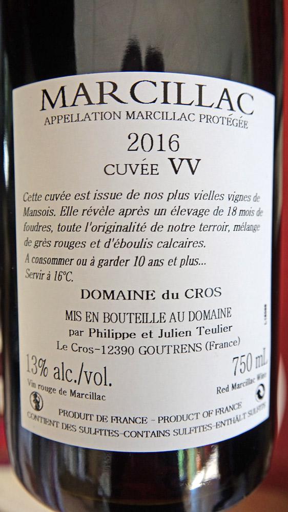 "Marcillac 2016 ""Vieilles vignes"""