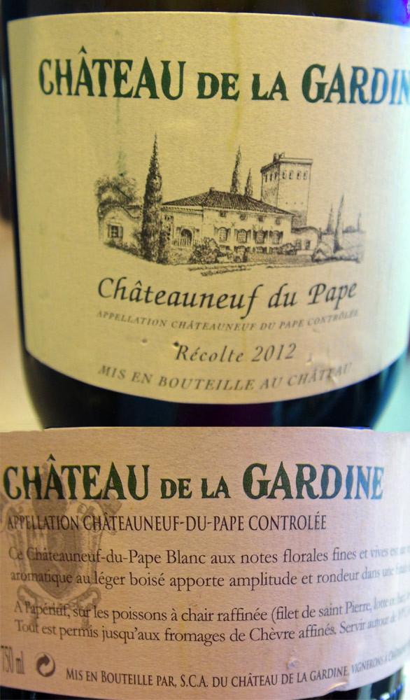 Châteauneuf-du-Pape La Gardine 2012