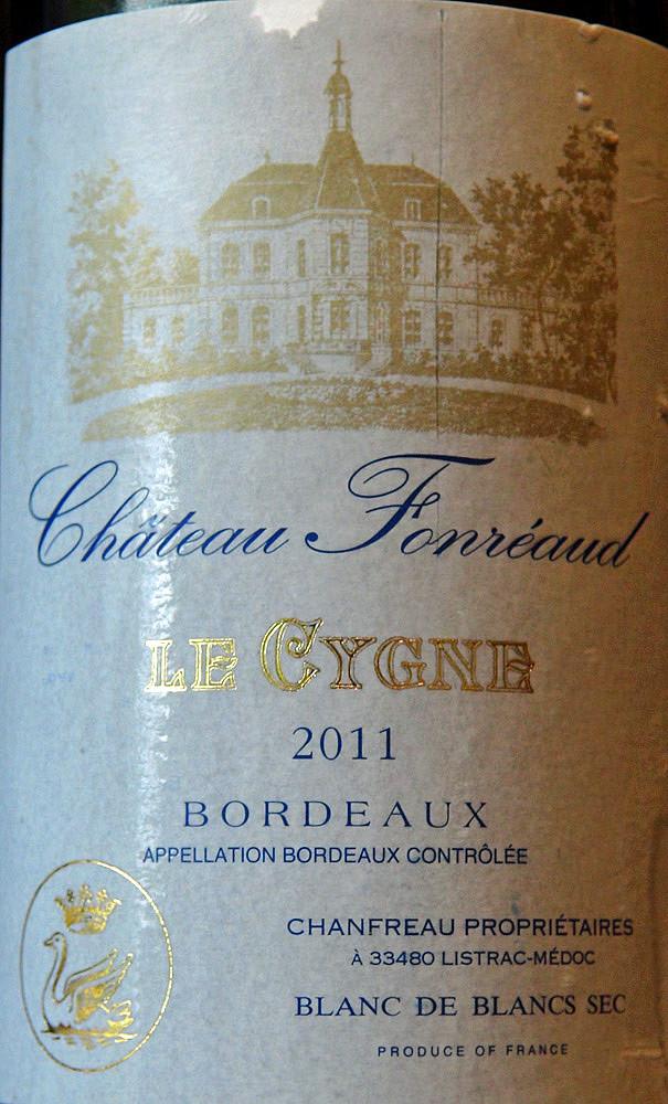 """Bordeaux blanc 2011 château Fonréaud """"Le Cygne"""""""