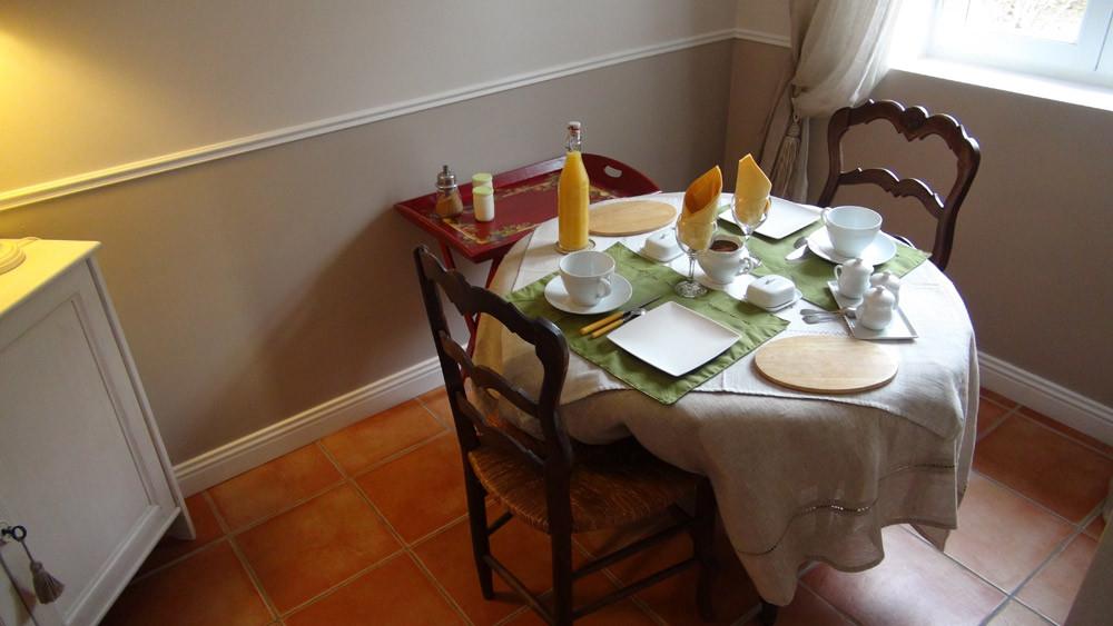 Le petit salon pour le petit déjeuner