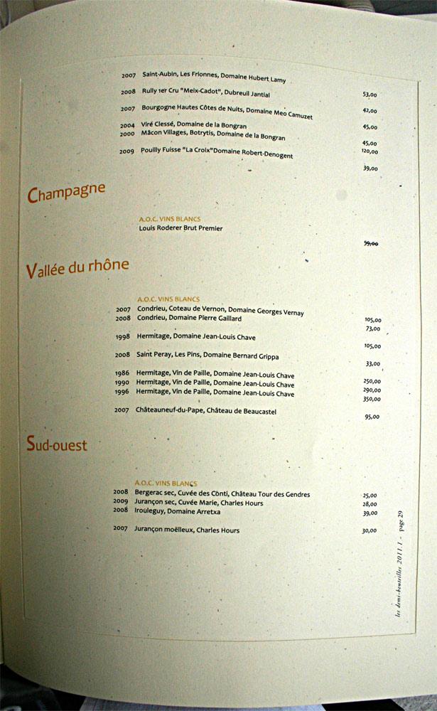 Champagne (suite), Vallée du Rhône et Sud-ouest