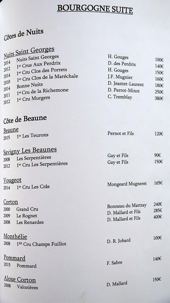 Bourgogne suite (17 références)