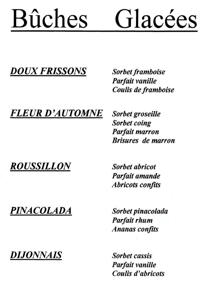 """Parfums des """"Bûches glacées"""" (suite)"""