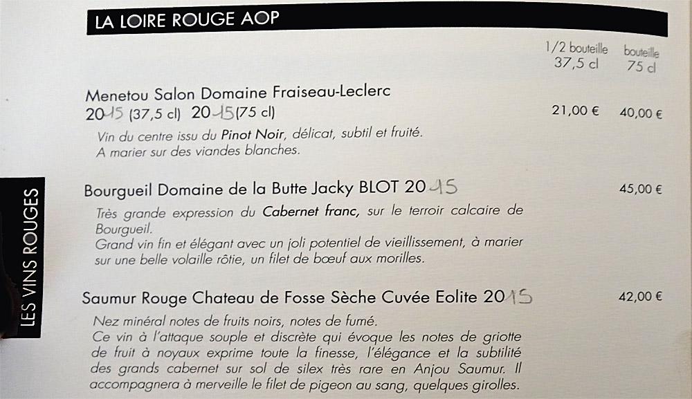 Vins rouges - Loire (suite)