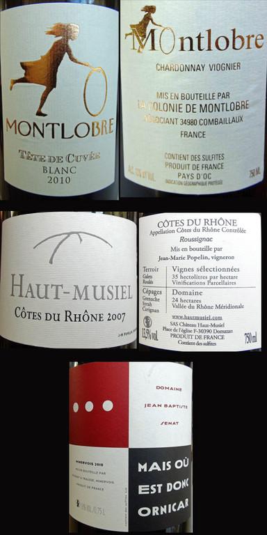 Pays d'Oc, Côtes du Rhône & Minervois