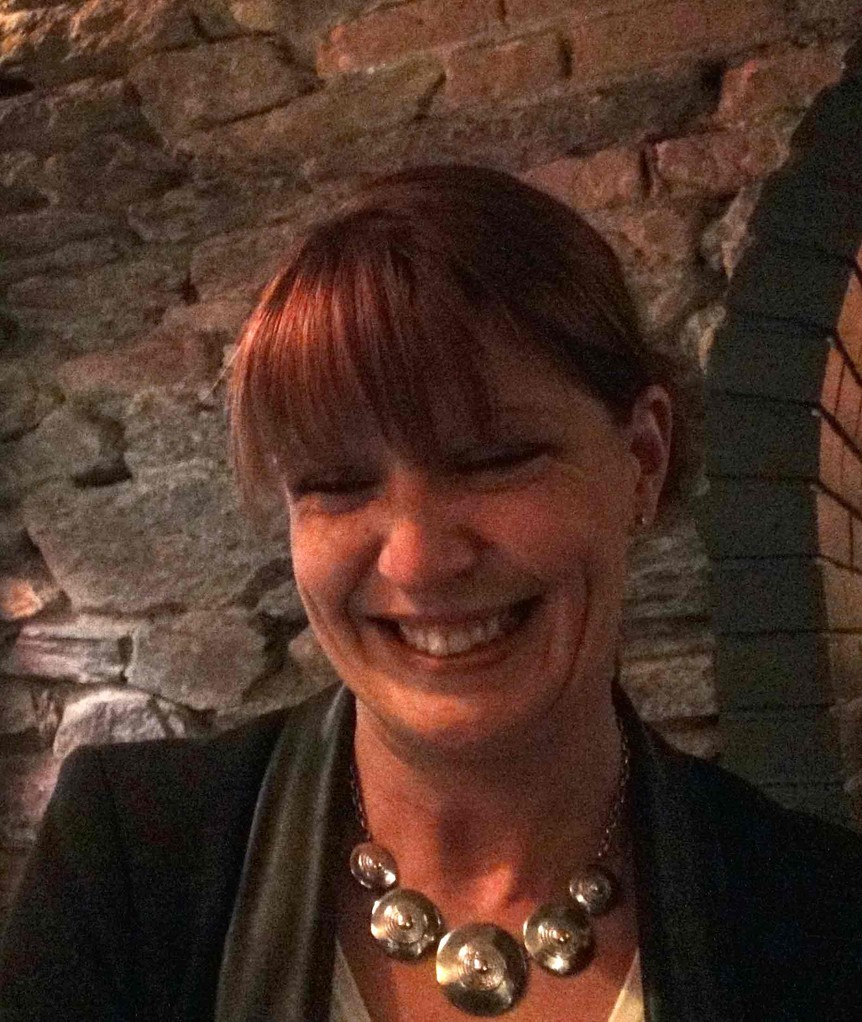 Karine Louvel, tout sourire