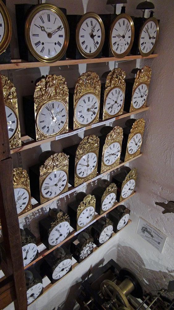 Mur d'horloges