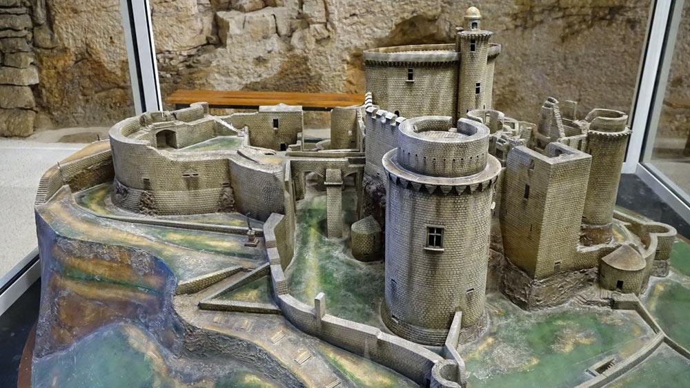 Maquette du château sous un deuxième angle