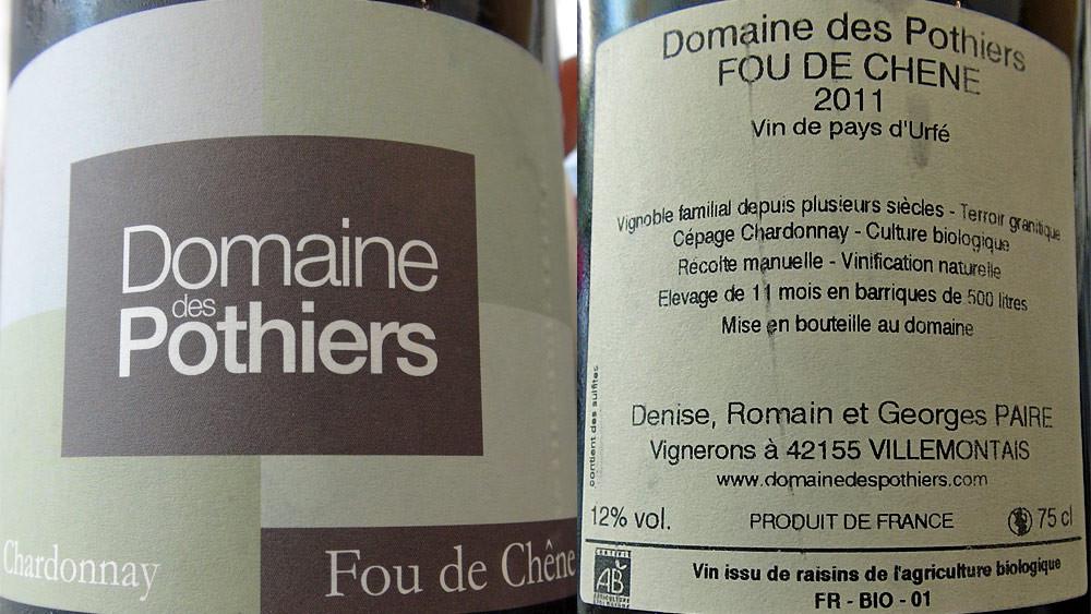Vin de pays d'Urfé 2011 - Domaine des Pothiers