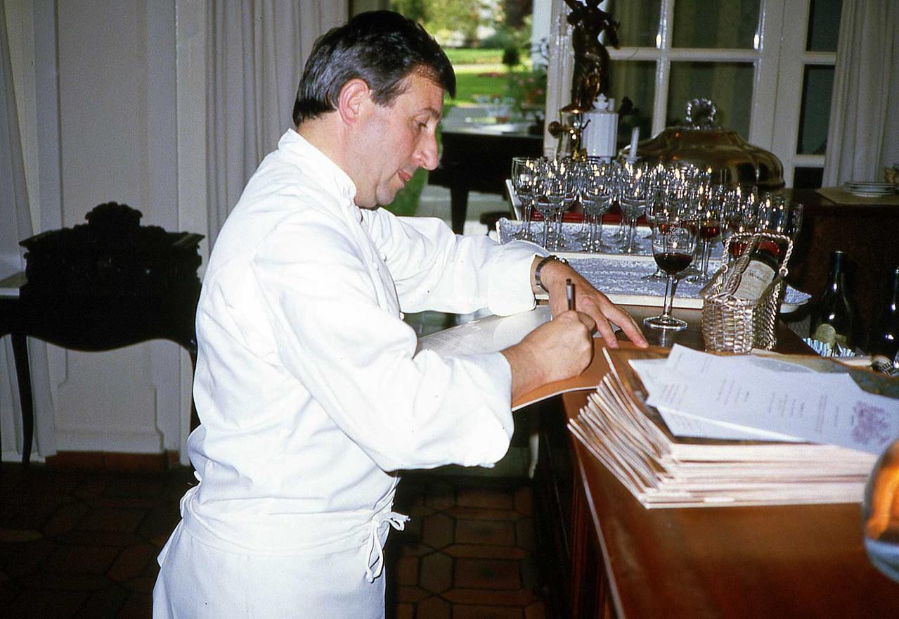 Michel Guérard le septembre 1983, époque où Daniel Jaguin était à Eugénie-les-Bains