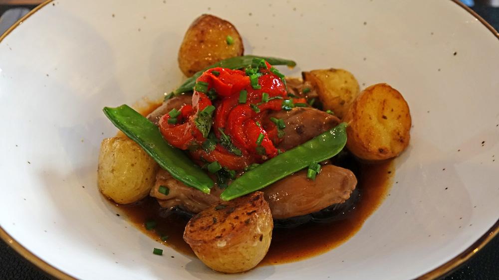 Agneau braisé, aubergine et pommes de terre de Noirmoutier