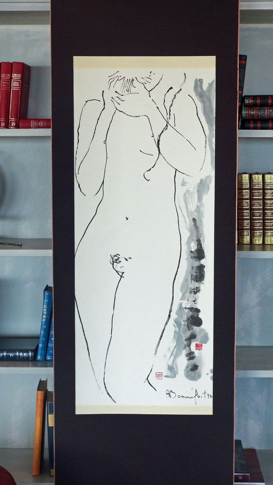 Un tableau d'Alain Bonnefoit (Exposition d'Art du Domaine au Salon Saint-André)