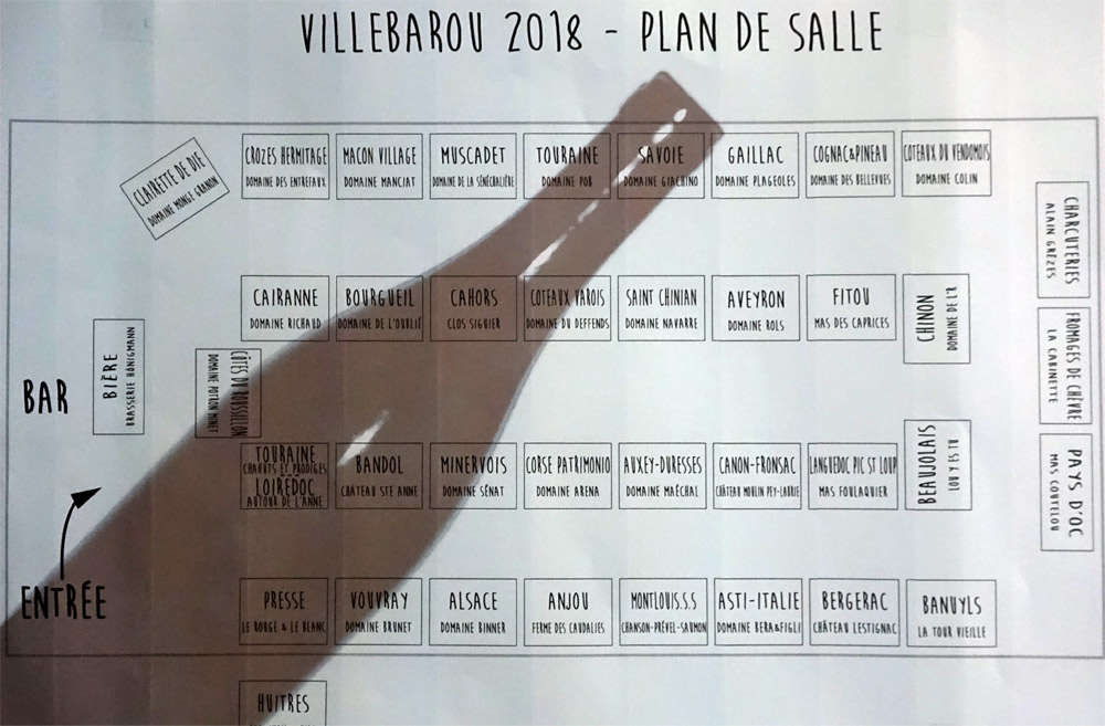Plan des Exposants du Salon de Villebarou