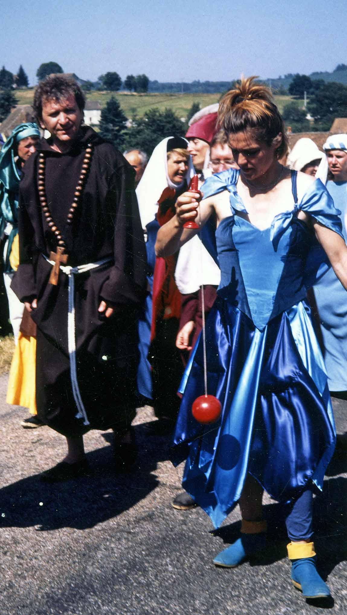 Première fête médiévale  (le moine, c'est moi !) - 1989