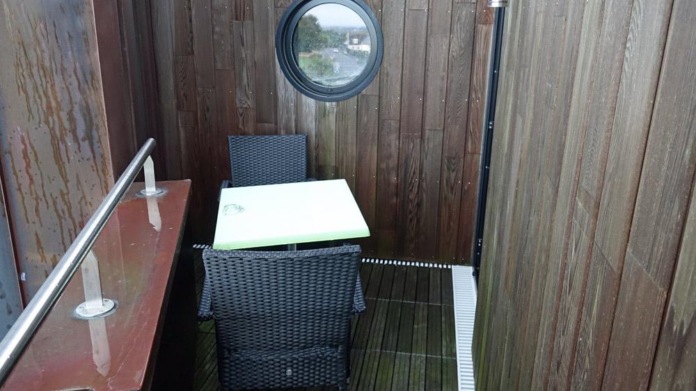 Petite terrasse de la chambre Menez Brug 4