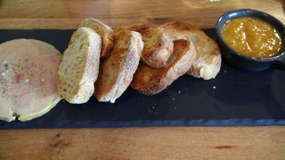 Foie gras maison, oranges sanguines