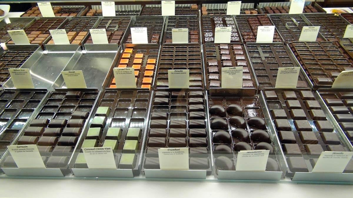 Les chocolats à la vente ... et dégustation
