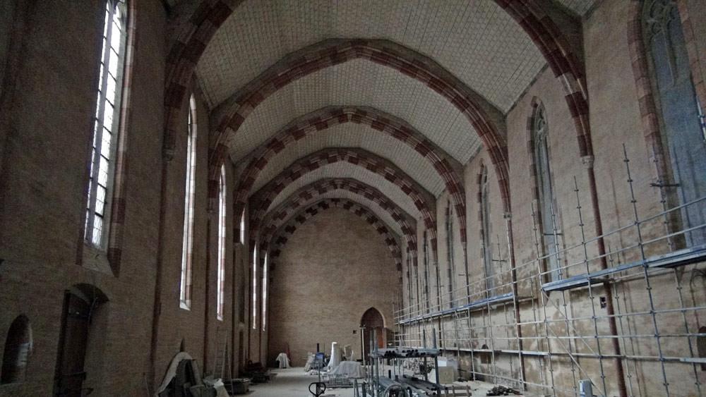 Réfectoire du Couvent des Jacobins en cours de restauration