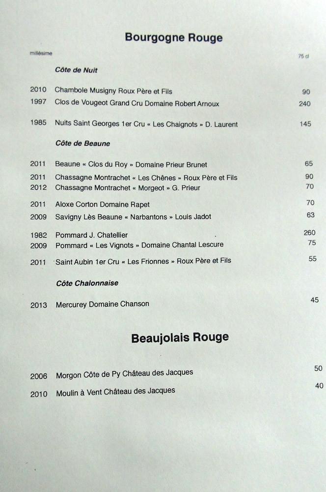 Bourgogne & Beaujolais (rouge)
