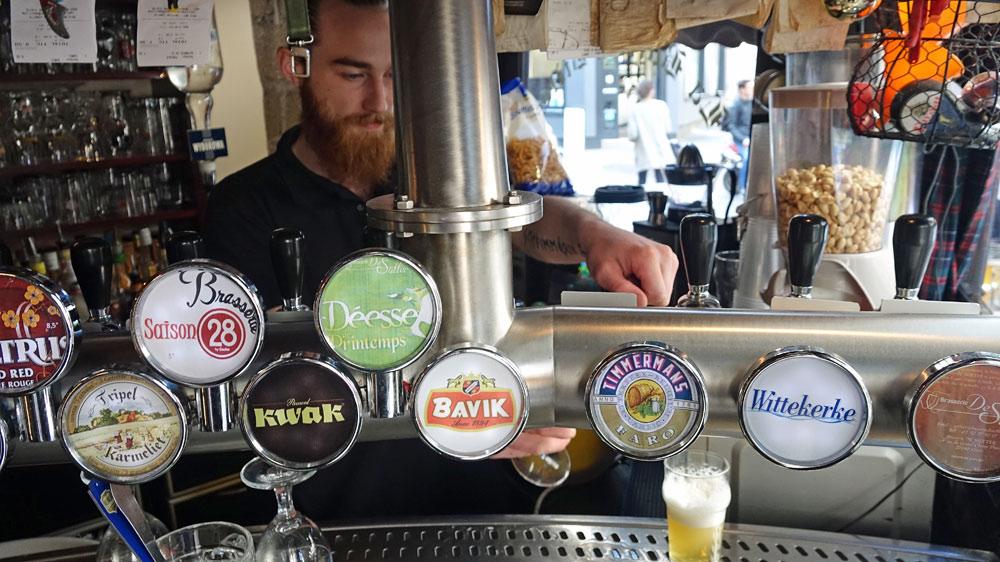 Bières pression disponibles