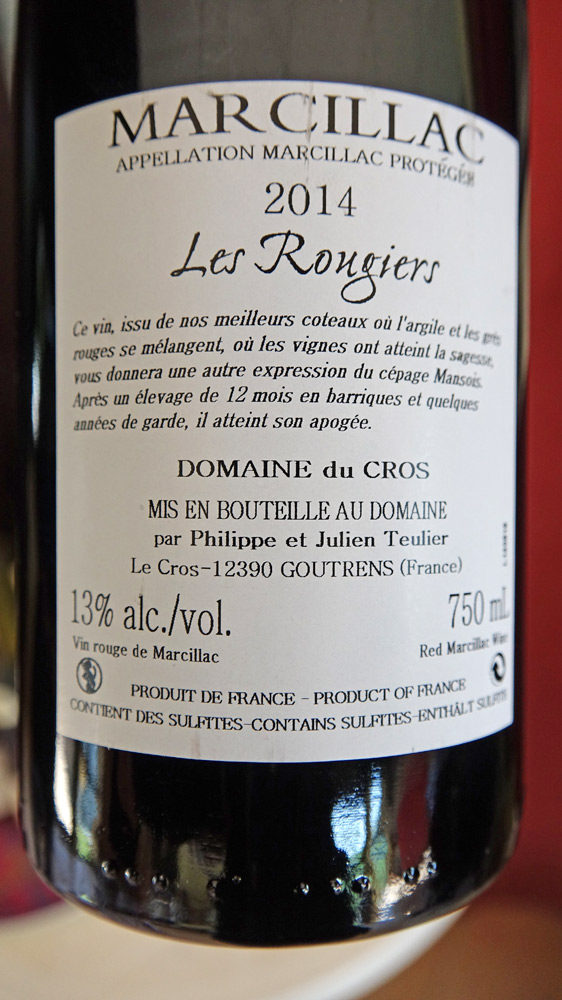 "Marcillac 2014 ""Les Rougiers"""