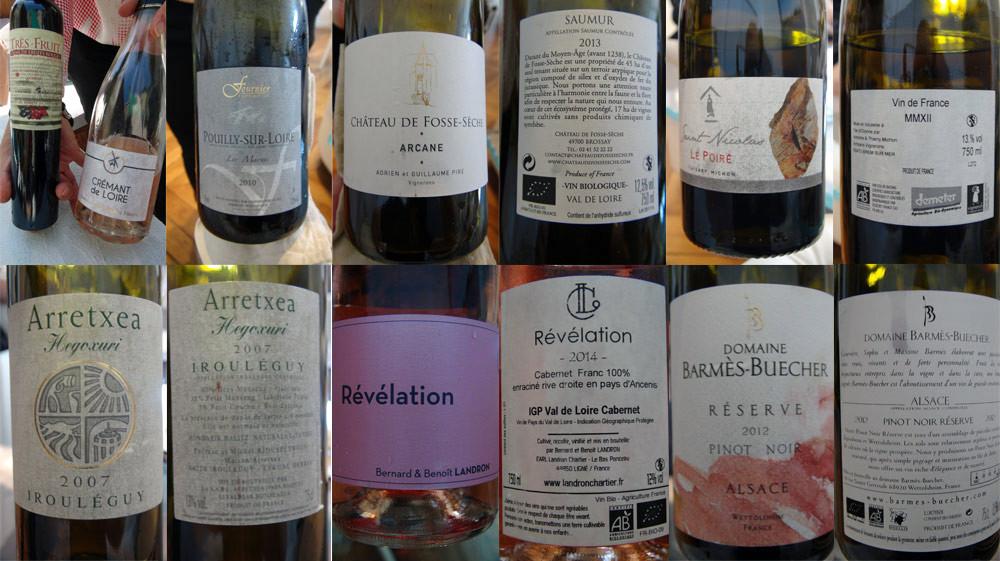 Les vins servis
