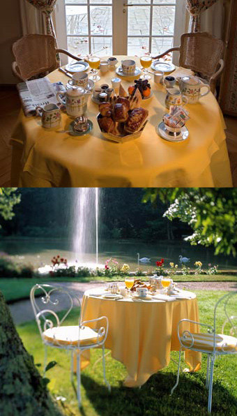 Petit déjeuner en terrasse ou en chambre