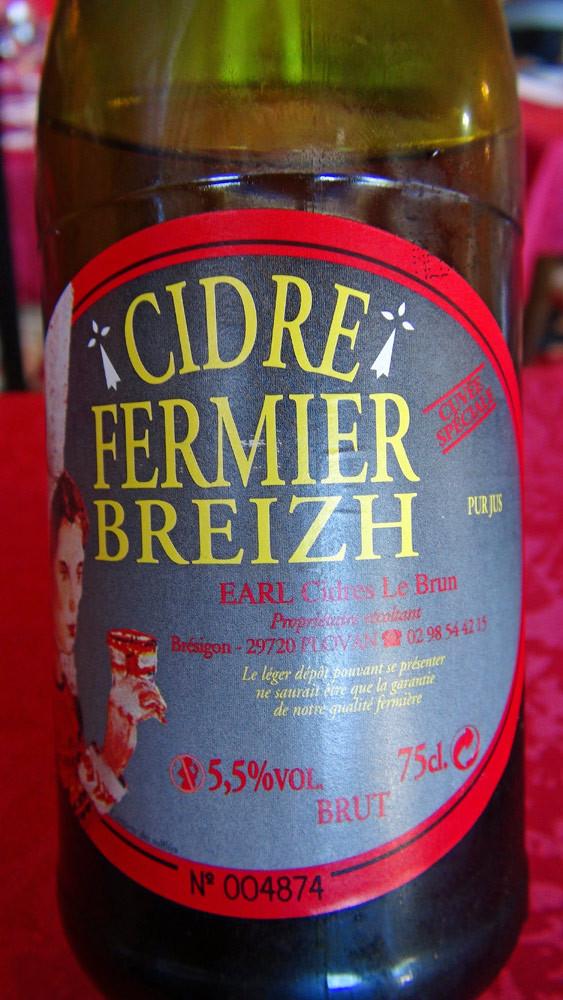 Cidre fermier breton