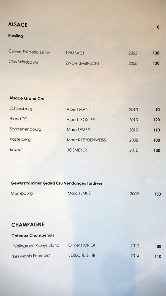 Vins blancs - Alsace et Champagne