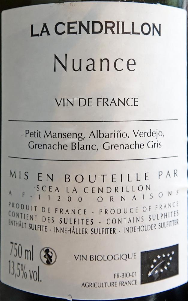 Vin blanc sur le Cabillaud