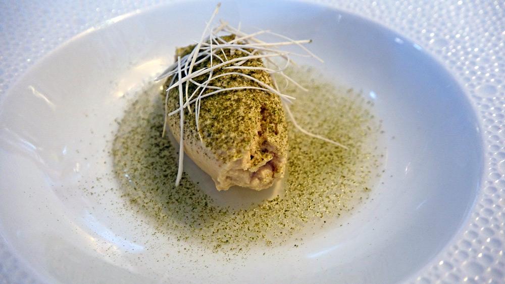 Royale de foie gras (de canard !), gelée d'algues et raifort