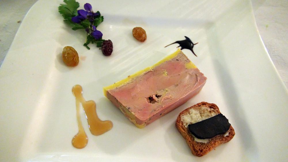 Foie gras d'oie et son pain toasté