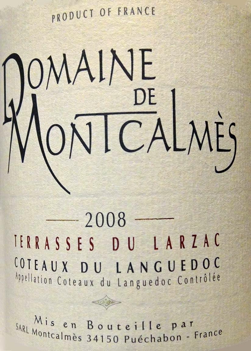 """Coteaux du Languedoc """"Terrasses du Larzac"""" 2008 du Domaine de Montcalmès"""